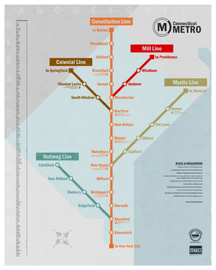 Connecticut Metro Map