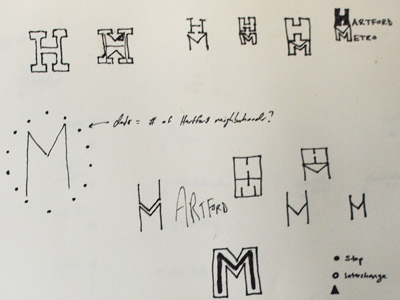 Hartford Metro Logo Sketches